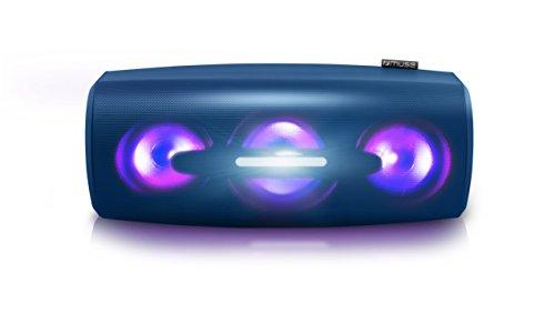 Muse M-930 DJ portabler Bluetooth-Lautsprecher, wassergeschützt mit Disco-Licht (2 x 20 Watt, Lithium-Ionen Akku, USB-Charging)