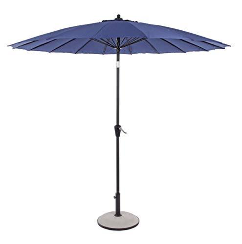PEGANE Parasol centré en Aluminium Coloris Bleu - Dim : Ø 270 x H 240 cm