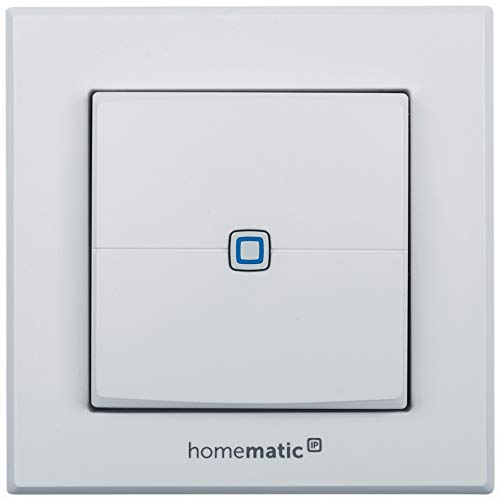 Homematic IP ELV Komplettbausatz Wandtaster HMIP-WRC2, 2-Fach für Smart Home/Hausautomation