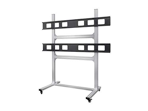 Monoprice 2x2 Video Wall Display Cart with Micro Adjustment Arms