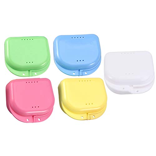 HEALLILY 5 Stück Prothesenkofferhalter Falsche Zähne Behälter Box Zähne Zahnspange Mundschutz Aufbewahrung für Die Reise