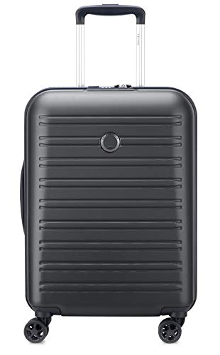 Delsey Paris SEGUR 2.0 Koffer, 55 cm, 36, 3 Liter, Schwarz