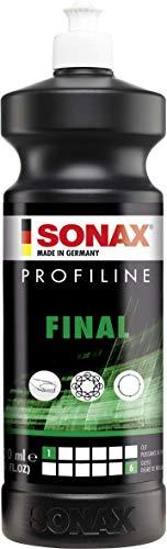 SONAX PROFILINE Final (1 Litro) - lucidante delicato ad elevata brillantezza con sigillatura rapida. Rimuove micrograffi, restituisce alla vernice colore intenso | Art. N. 02783000
