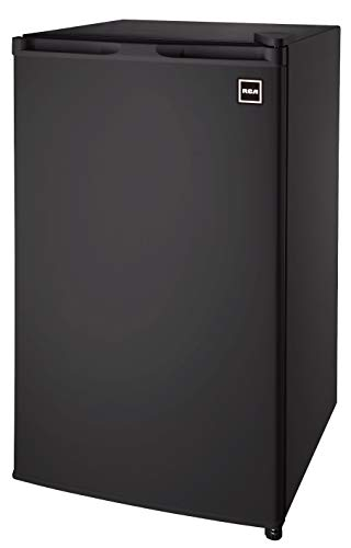 RCA RFR320-B-Black-COM RFR321 Mini Refrigerator, 3.2 Cu Ft Fridge, Black, CU.FT