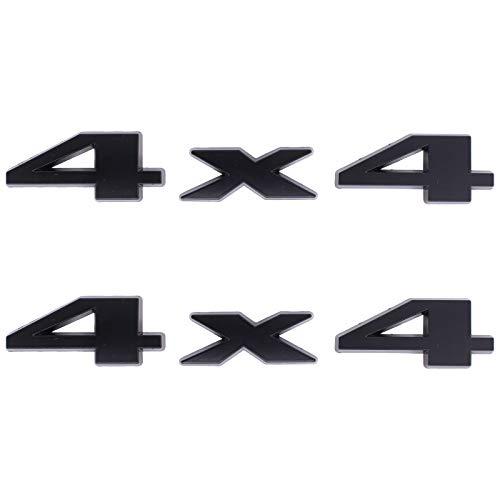 NewYall Pack of 2 Black 4X4 Emblem