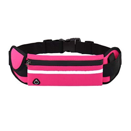LIUZKH Riñonera Bolsa de cinturón Correr Bolsa de cintura Deportes Bolsa de gimnasio portátil Hold Water Ciclismo Bolsa de teléfono Impermeable Mujeres Running Belt (rosa)
