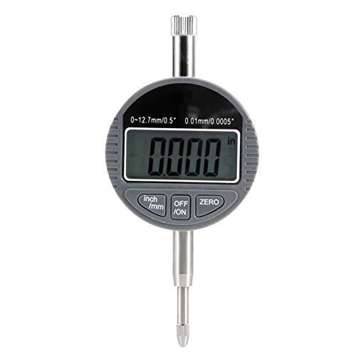 Sonda electrónica de medición de profundidad, precisión de 0,01 mm Indicador digital Gran pantalla LCD Indicador de dial digital para producción industrial Mantenimiento mecánico