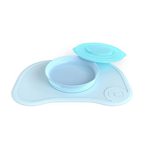 Vital Innovations 78130 Twistshake Teller mit passender Unterlage, pastell blau