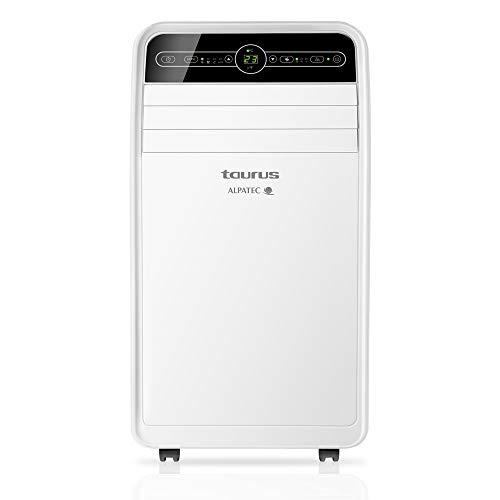 Taurus AC 260 KT - Climatiseur mobile. 3 en 1: froid, déshumidificateur et ventilateur. Silencieux. Minuteur. Avec télécommande. Avec kit fenêtre. Roue. Blanc. 1050W.