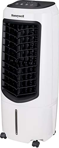 """Honeywell Portable Evaporative Cooler with Fan, Humidifier & Remote, 29.6"""" TC10PEU, White"""