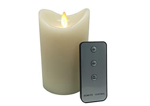 Simucandle Dritte Generation Neue Struktur leiser Schwung LED Flammenlose Kerzen batteriebetriebene Kerzen Leuchtdauer 1000 Std