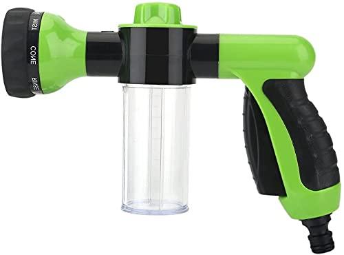 KAHEIGN Gartenschlauch Spritzpistole mit 8 Modi, Hochdruck Handbrause Bewässerungssprüher für Bewässerung Autowaschen Haustiere Reinigung mit Vorratsbehälter
