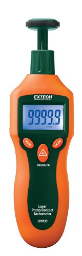 Extech RPM33 Combination Contact and Laser Photo Tachometer
