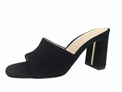 Marque Amazon - Pattie Mules à Haut Talon Bloc pour Femme par The Drop