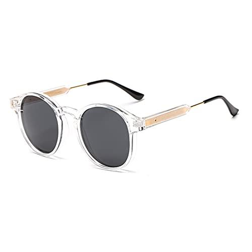 Gafas De Sol Gafas De Sol Retro para Mujer, Gafas De Sol Redondas Transparentes para Hombre, Gafas Circulares Clásicas, Transparentes
