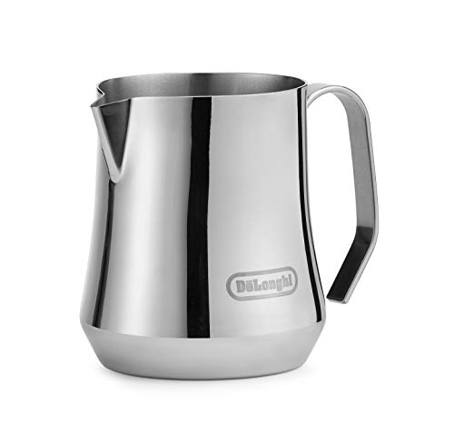 De#039Longhi Milk Frothing Pitcher Stainless Steel 17 ounce 500 ml Barista Tool Frother Jug for Espresso Machine Coffee Cappuccino Latte Art DLSC069