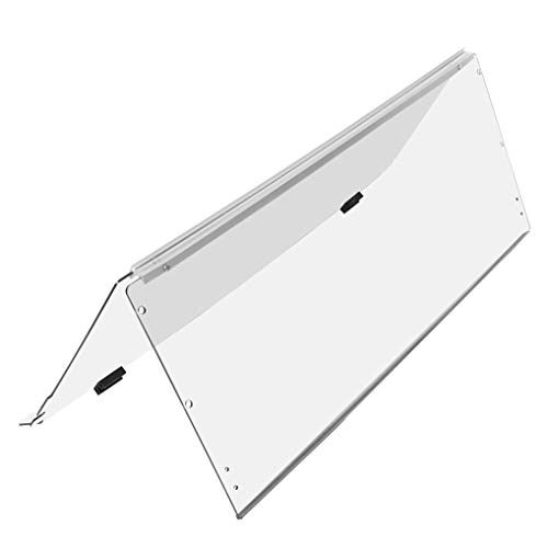 KUAFU Clear Fold Down Golf Cart Windshield Compatible with EZGO TXT 1994-2013
