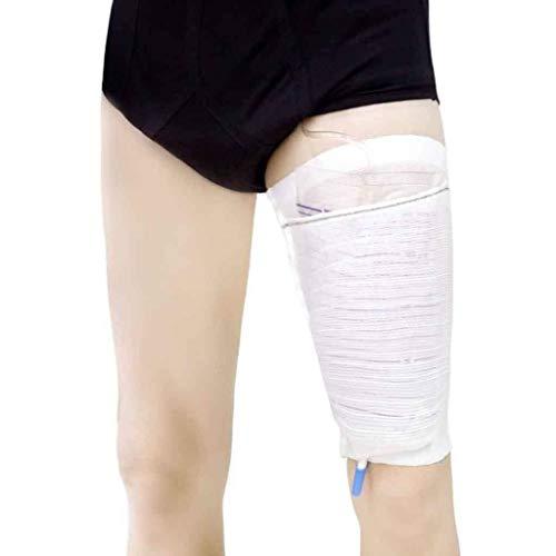 Support de sac de jambe de cathéter / housse de sac de cathéter, mélanges de fibres solides et durables avec coutures extérieures, lavables et réutilisables avec sac de linge gratuit ( Size : Medium )