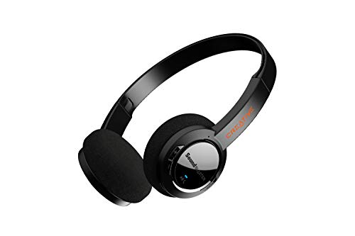 Sound Blaster JAM V2 On-Ear Lightweight Bluetooth 5.0 Wireless Headphones with USB-C, aptX Low Latency, aptX HD, Multipoint Connectivity, Voice Detection and Noise Reduction, 22 Hours Battery Life