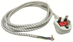 2.5M strijkijzers netsnoer 3 Core 13 Amps 3pin UK Plug 0,75 mm - Connect
