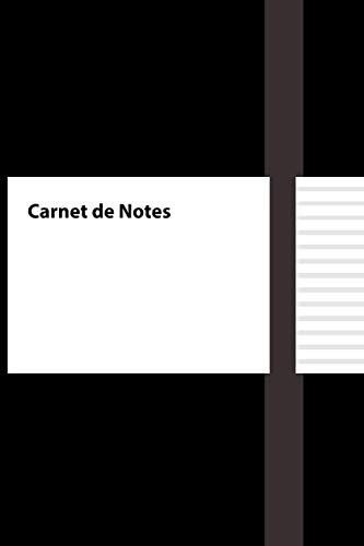 carnet de notes, 15,24x22,86 cm, intérieur noir et blanc avec papier blanc, sans fond perdu, mat, 120 pages ( Couverture noire )