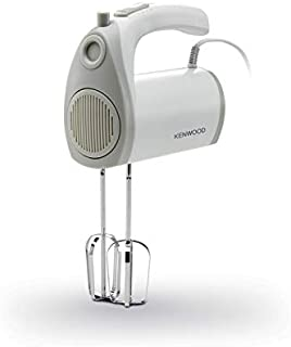 Kenwood Hand Mixer 300W, 5 Speeds plus turbo, Compact and Light Weight with Kneaders and Beaters - HMP20.000WH