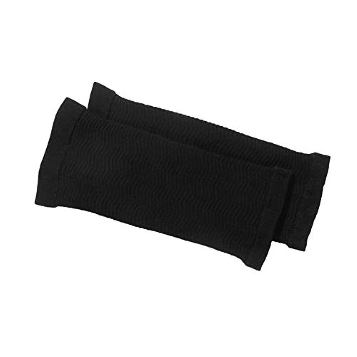 一致事前悪性の1ペア420 d圧縮痩身アームスリーブワークアウトトーニングバーンセルライトシェイパー脂肪燃焼袖用女性(Color:black)