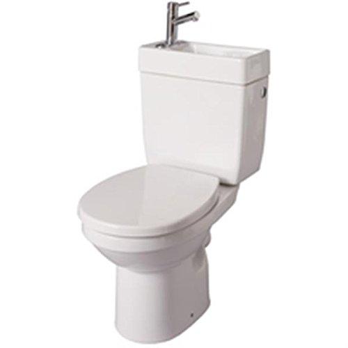 Alterna - Pack de inodoro con lavabo integrado DOPPIO 2, color blanco