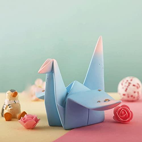 RTHAMERA Mil grúas de Papel decoración Creativa Linda Chica corazón hogar Escritorio decoración de Resina artesanía decoración (Color : Blue)
