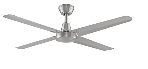 Fanimation Ascension FP6717BN High Power Indoor/Outdoor Ceiling Fan with 54-Inch Blades, 3 Speed Wall Control, Brushed Nickel