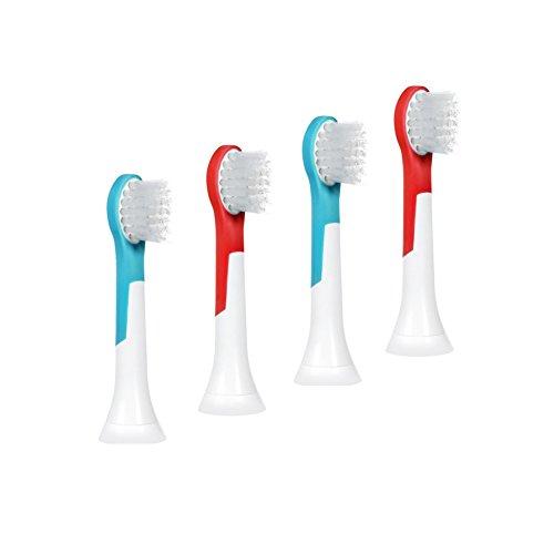 bigbigwo pequeño Escobilla de recambio compatible con Philips Sonicare HX6311hx6322hx6382para Kids Cepillo de dientes eléctrico cabezales