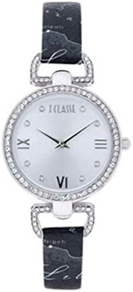 Alviero martini - orologio madagascar per donna, in acciaio inossidabile 316l,cristalli e cinturino in pelle 1671351