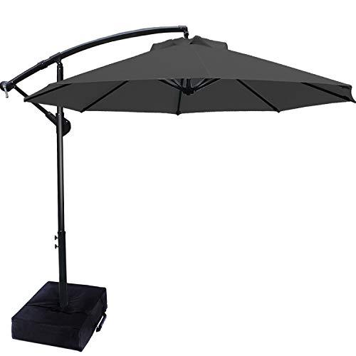 ABCCANOPY Patio Umbrellas Cantilever Umbrella Offset Hanging Umbrellas 10 FT...