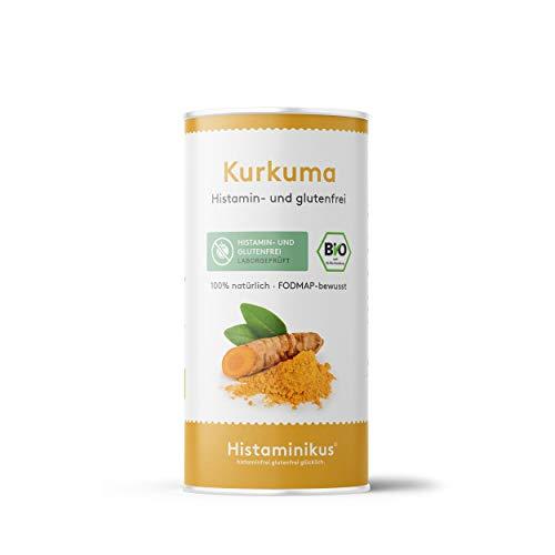 Histaminikus Kurkuma, Bio Kurkuma-Pulver (100g) , hefefreies Naturprodukt ohne Geschmacksverstärker, histaminfrei, glutenfrei, fodmap-bewusst, vegan und geeignet bei Histaminintoleranz