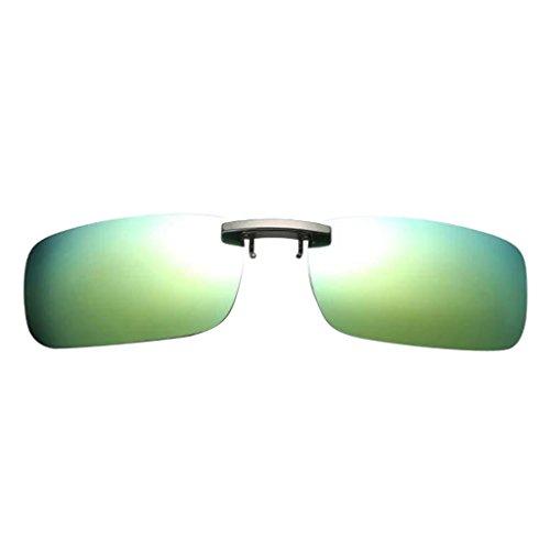 oshhni Gafas de Sol de Labios Polarizadas para Conducir para Hombre - Verde claro, como se describe