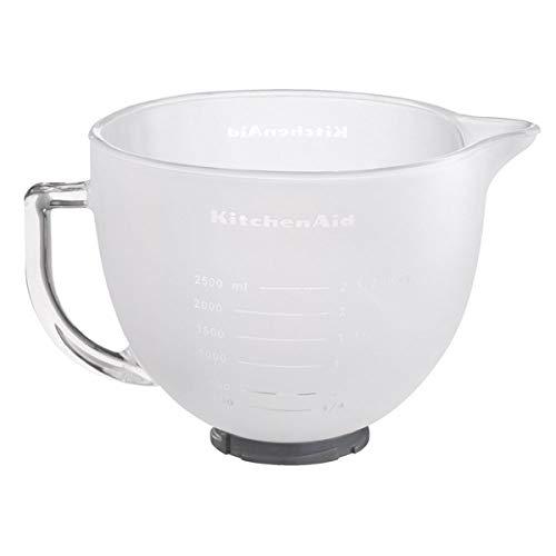 KitchenAid Milchglasschüssel mit Griff für Artisan 4,8 l und Classic 4,3 l transparent/weiß Milchglas Artisan und Classic