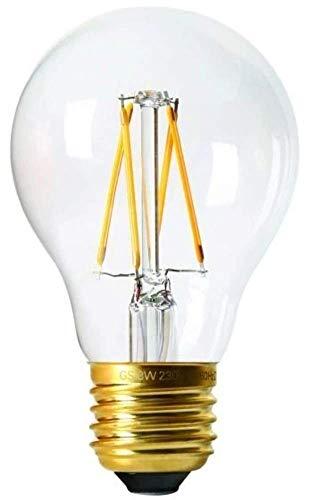 Girard Sudron 28623-LED GLS A60 Ampoule LED à filament E27 (culot à vis Edison) Transparent, blanc chaud, 400 lumens, intensité variable, 4 W