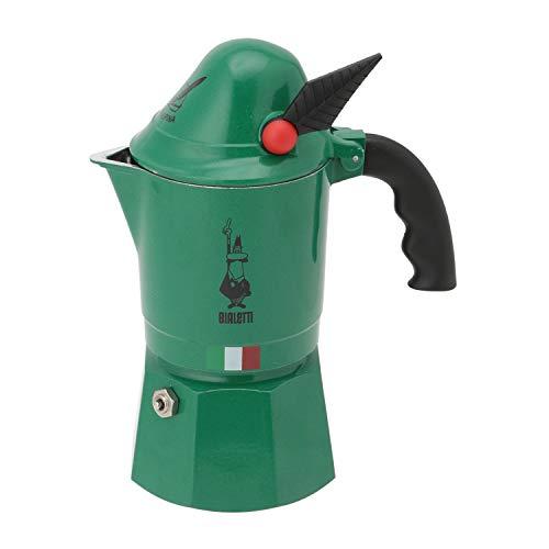 Bialetti - 2762 - Alpina - Cafetière Italienne en Aluminium - 3 Tasses - Vert