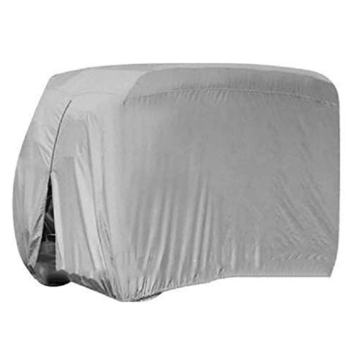 SHUI Cubierta Funda para Buggy Carro De Golf Polvo Impermeable, Cubierta De Carro De Revestimiento De PVC Adicional para EZ GO, Coche Club, Yamaha, Plata-S: 245 * 122 * 168cm-gris