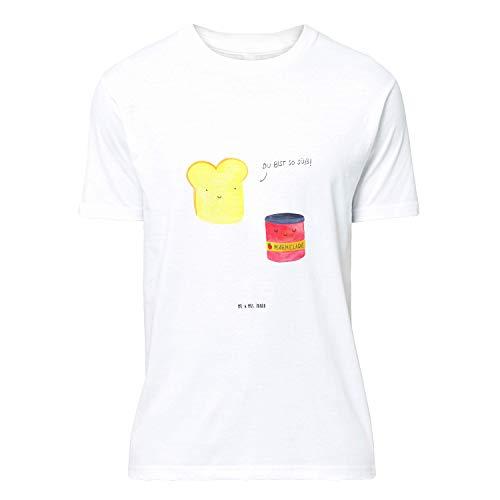 Mr. & Mrs. Panda , Größe S T-Shirt Toast & Marmelade - Farbe Weiß