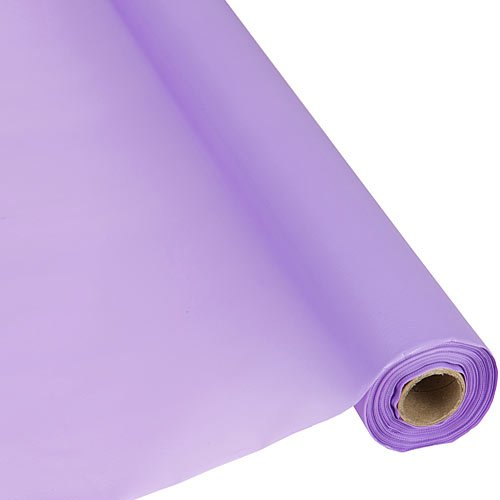 Plastic Party Banquet Table Cover Roll - 300 ft. x 40 in. - Disposable Tablecloth (Lavender)