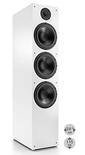 Nubert nuBox 683 Standlautsprecher | Lautsprecher für Stereo & Musikgenuss | Heimkino & HiFi Qualität auf hohem Niveau | Passive Standbox mit 2.5 Wege Technik | Standbox Weiß | 1 Stück