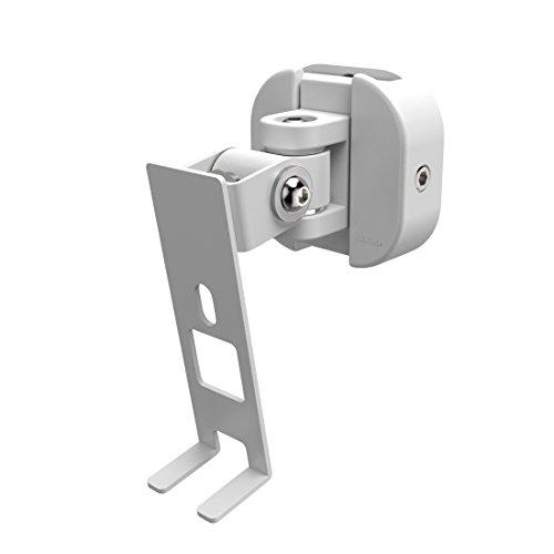 Hama Wandhalterung für Sonos PLAY:1 Lautsprecher (voll beweglicher Wandhalter, 360° drehbar, neigbar, schwenkbar, Lautsprecherhalter mit Easy-Fix-System) weiß