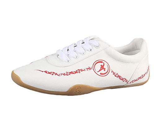 Unisex Kung Fu Zapatillas Chinos Practica Confort Transpirable Tradicionales Arte Marcial Zapatos Blanco 41