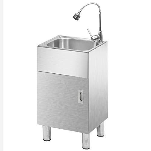 Waschküchenschränke aus Edelstahl, bewegliche öffentliche Waschtische in gewerblichen Restaurants, Waschtisch-Werkbank mit Warm- und Kaltwasserhähnen und Seifenspender, Für Camping- / LKW-Service