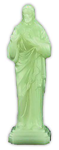 "JMJ Products, LLC 2.25"" Sacred Heart of Jesus Glow in the Dark Statue"