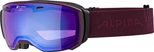ALPINA ESTETICA Skibrille, Unisex– Erwachsene, cassis, one size
