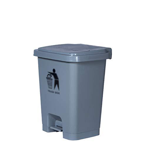 CSQ- Papelera De Reciclaje Al Aire Libre De 50 / 60L, Papelera De Plástico Grueso Con Tapa, Papelera De Reciclaje De Basura De Clínica De Hospital, Aula De Escuela, Fábrica(Size:60L,Color:gris)