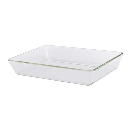 IKEA MIXTUR -Backofen / Servierplatte Klarglas - 35x25 cm