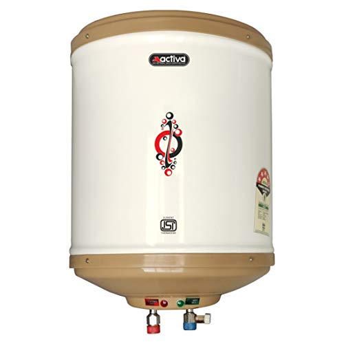 ACTIVA 10 L Instant 3 KVA Special Anti Rust Coated Tank Geyser with 5 Year Warranty, Abs Top Bottom, (IVORY)